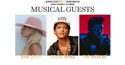Lady Gaga, Bruno Mars, The Weeknd เตรียมขึ้นโชว์ Victoria's Secrets 2016