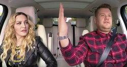 """ฮาสุด! มาดอนน่า โชว์ร้องคาราโอเกะเพลงตัวเองในรายการ """"Carpool Karaoke"""""""