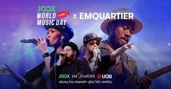 ย้อนชมบรรยากาศ จากงานคอนเสิร์ตชวนอิ่มบุญ JOOX World Music Day x EmQuartier 2018