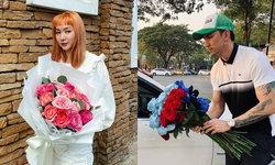 """""""ธามไท"""" เจอ """"โฟร์"""" แซวเต็มๆ หลังโพสต์รูปช่วยเดินขายดอกไม้ริมถนน"""
