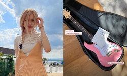 Rosé BLACKPINK โพสต์ขอบคุณ John Mayer ส่งกีตาร์สีชมพูให้ถึงที่
