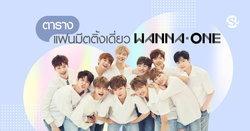 ตารางแฟนมีตติ้งเดี่ยวสมาชิก Wanna One ในไทย 2019