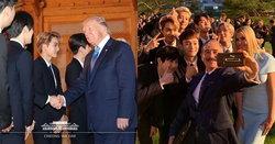 """""""EXO"""" ร่วมต้อนรับ ปธน. สหรัฐฯ """"โดนัลด์ ทรัมป์"""" ที่ บลูเฮาส์ เกาหลีใต้"""