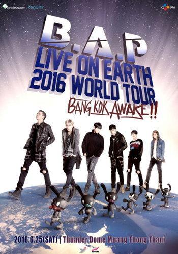 บัตร B.A.P LIVE ON EARTH 2016 WORLD TOUR BANGKOK AWAKE!!
