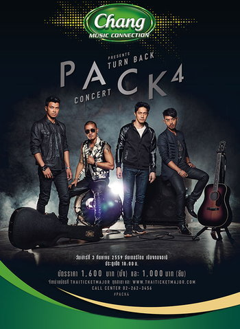 Chang Music Connection presents PACK 4 TURN BACK CONCERT