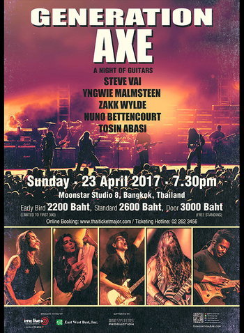 GENERATION AXE - A NIGHT OF GUITARS LIVE CONCERT IN BANGKOK 2017