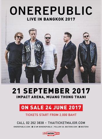 OneRepublic Live in Bangkok 2017