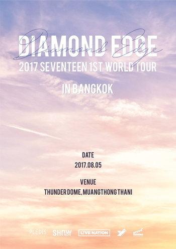 "2017 SEVENTEEN 1ST WORLD TOUR ""DIAMOND EDGE"" IN BANGKOK"