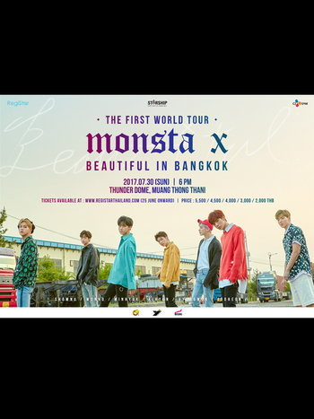 MONSTA X THE FIRST WORLD TOUR BEAUTIFUL IN BANGKOK
