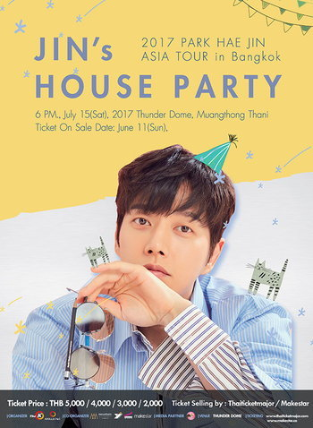 2017 PARK HAE JIN ASIA TOUR in Bangkok JIN'S HOUSE PARTY