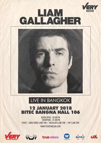Liam Gallagher Live in Bangkok