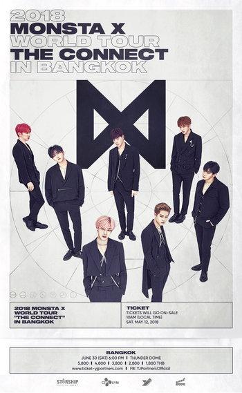 """2018 MONSTA X WORLD TOUR """"THE CONNECT"""" in BANGKOK"""