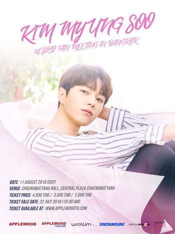 Kim Myung Soo 1st Solo Fan Meeting in Bangkok