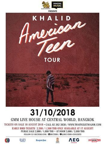 Singha Music Presents Khalid American Teen Tour 2018 Bangkok