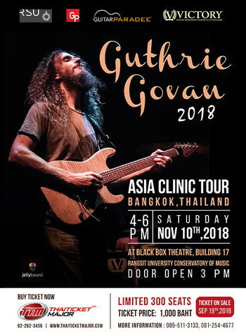 Guthrie Govan Asia Clinic Tour 2018, Bangkok Thailand