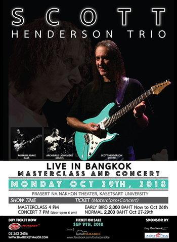 Scott Henderson Trio Live in Bangkok 2018 (Masterclass and Concert)