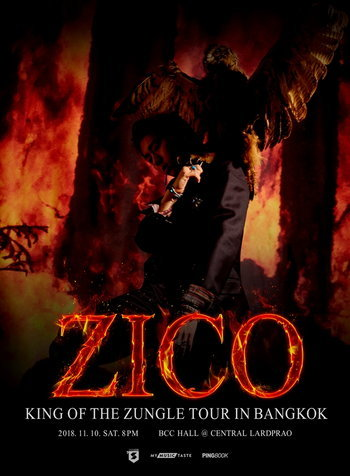"ZICO ""King Of the Zungle"" Tour in Bangkok"