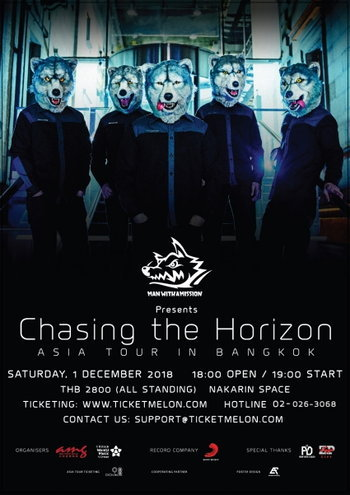 MAN WITH A MISSION presents Chasing the Horizon ASIA TOUR IN BANGKOK