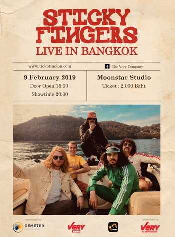 Sticky Fingers Live in Bangkok