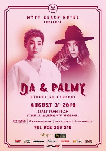 MYTT Beach Hotel Presents Da & Palmy Exclusive Concert