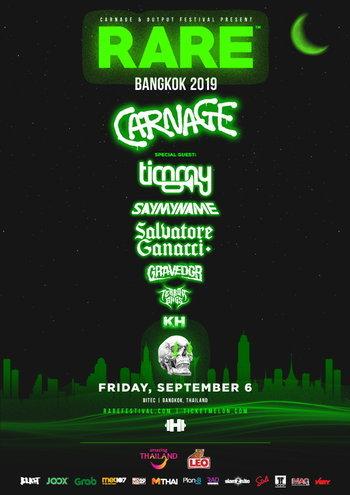 "Carnage & Output Festival Presents ""RARE BANGKOK 2019"""