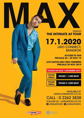 MAX The Intimate AF Tour in Bangkok