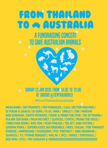From Thailand to Australia: A Fundraising Concert to Save Australian Animals