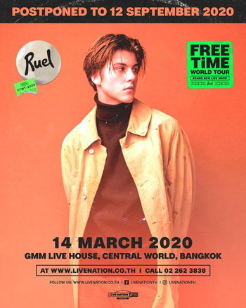 RUEL Free Time World Tour Live in Bangkok 2020