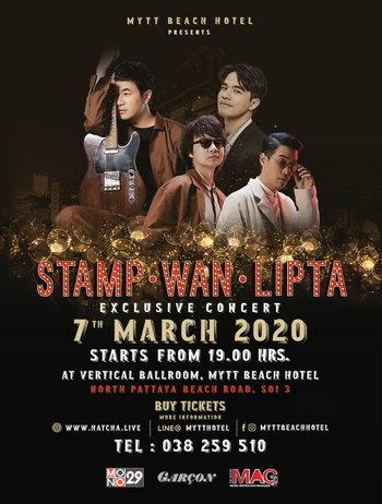MYTT Beach Hotel Presents Stamp. Wan. Lipta Exclusive Concert