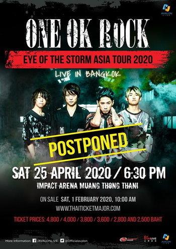 "(Postponed) ONE OK ROCK ""EYE OF THE STORM ASIA TOUR 2020"" LIVE IN BANGKOK"