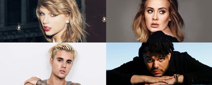 Taylor Swift, Adele, The Weeknd, Justin Bieber นำทีมเข้าชิง Billboard Music Awards 2016