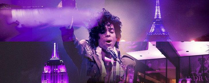 "#RIPPrince กับปรากฎการณ์ ""Purple Rain"" ตามสถานที่สำคัญของโลก"