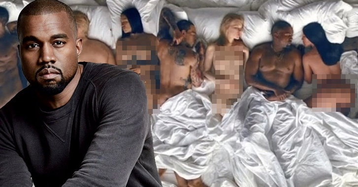 "Kanye West ปล่อยเอ็มวี ""Famous"" รวมหุ่นขี้ผึ้งเซเลปดังนอนเปลื้องผ้าล่อนจ้อน!"