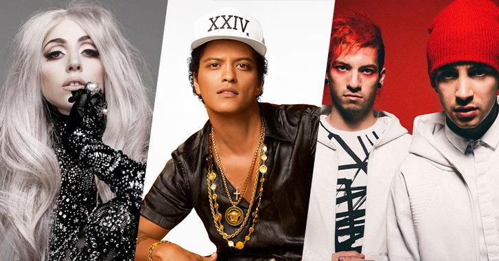 Lady Gaga, Bruno Mars, twenty one pilots จ่อขึ้นเวที American Music Awards