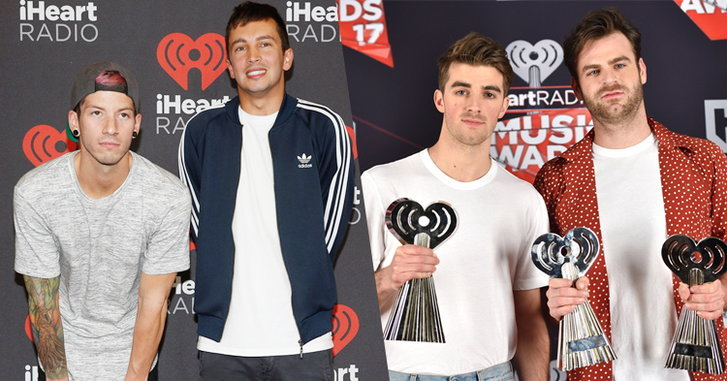 The Chainsmokers, twenty one pilots กวาดรางวัล iHeartRadio Music Awards 2017