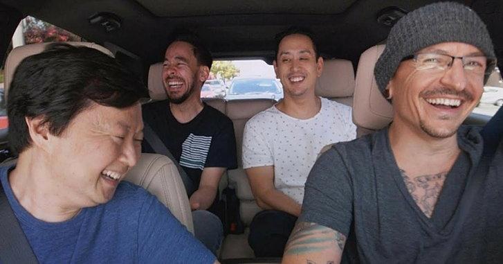 Chester Bennington กับใบหน้าเปื้อนยิ้มตลอดเวลาใน Carpool Karaoke