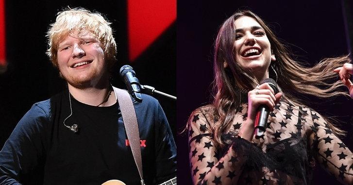 Ed Sheeran, Dua Lipa นำทีมเข้าชิงรางวัล Brit Awards 2018