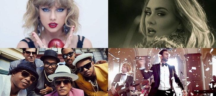 Top 10 เพลงสากลสุดฮิตประจำปี 2015