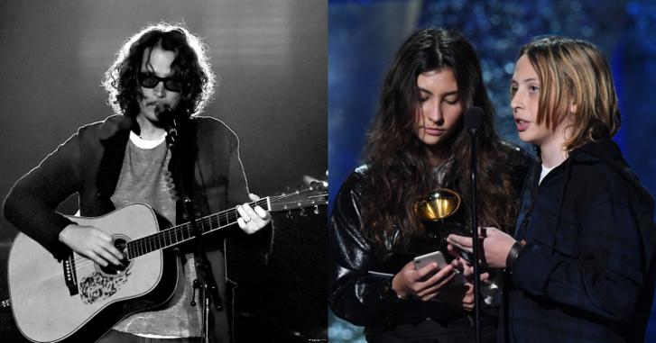 """""""เขาคือกวีที่ยิ่งใหญ่"""" ลูกๆ """"Chris Cornell"""" ผู้ลาลับ ขึ้นรับรางวัล Grammy Awards 2019 แทนพ่อ"""