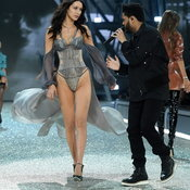Lady Gaga, Bruno Mars, The Weeknd at Victoria's Secret Fashion Show 2016 in Paris