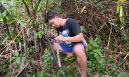 นัน ไมค์ทองคำ โพสต์คลิปลุยป่าหาหน่อไม้ งานนี้แฟนๆ ทั้งเตือนและชื่นชม
