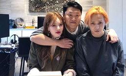 """""""PSY"""" คอนเฟิร์มเอง! เซ็นสัญญาคู่รัก """"ฮยอนอา-ฮโยจง (อีดอน)"""" เป็นศิลปินในสังกัด"""