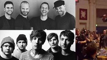 ดราม่า! Coldplay ถูกนักร้องนำ Bring Me The Horizon เหยียบถล่มโต๊ะกลางงานประกาศรางวัล
