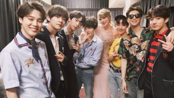 BTS สุดฮอต! ซูเปอร์สตาร์วงการเพลงขอถ่ายภาพด้วยใน Billboard Music Awards 2018