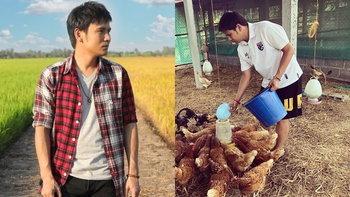 """ส่องชีวิตเรียบง่าย """"ไผ่ พงศธร"""" กับกิจกรรมเลี้ยงวัวและเก็บไข่ที่ทำแฟนๆ กดไลค์ (อัลบั้มภาพ)"""