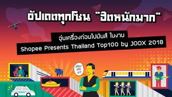 """อัปเดตทุกโซน """"ฮิตหนักมาก"""" อุ่นเครื่องก่อนไปสนุกกับงาน Thailand Top 100 by JOOX 2018"""
