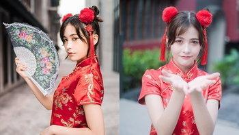 """""""นิกี้ BNK48"""" ลงภาพชุดกี่เพ้ารับตรุษจีน สวยจนแฟนคลับกดไลค์ทะลุหมื่นครั้ง"""