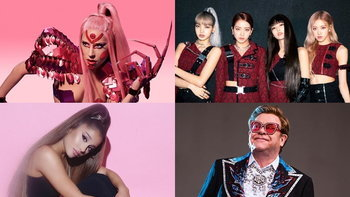 "BLACKPINK, Ariana Grande, Elton John ร่วมงานกับ ""Lady Gaga"" ในอัลบั้มใหม่ Chromatica"