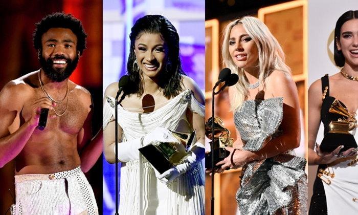 Childish Gambino, Cardi B,  Lady Gaga, Dua Lipa นำทีมศิลปินรับรางวัล Grammy Awards 2019 ครั้งที่ 61