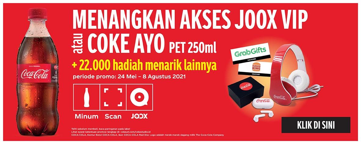 Menangkan Akses JOOX VIP atau COKE AYO pet 250ml